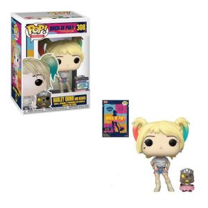 Birds of Prey Harley Quinn with Beaver Pop! Vinyl Figure with Collectible Card - EE Exclusive