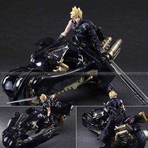 Final Fantasy VII Advent Children Play Arts-Kai Action Figure Cloud Strife & Fenrir
