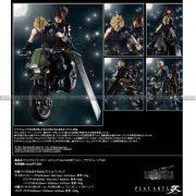 Final Fantasy VII Remake Play-Arts Kai Jessie, Cloud & Motorcycle Set