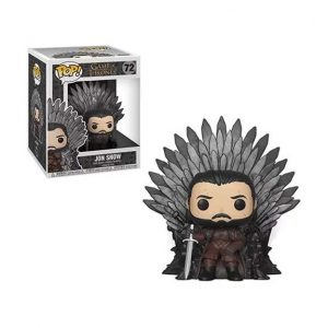Game of Thrones Jon Snow Sitting on Throne Deluxe Pop! Vinyl Figure (#72)