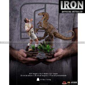 Iron Studio - Clever Girl Deluxe Art Scale 1 10 Statue - Jurassic Park