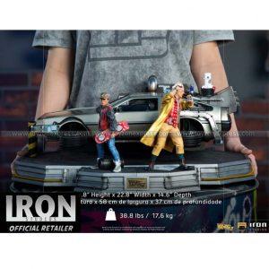 Iron Studios - DeLorean Full Set Deluxe - Back to the Future Part II - Art Scale 1 10