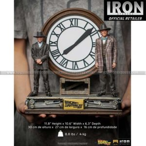 Iron Studios - Marty and Doc at the Clock Deluxe Art Scale 1 10 - BTTF III