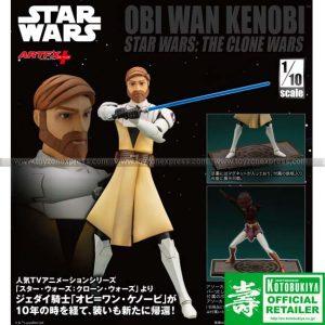 Kotobukiya - Star Wars - Artfx Obi-Wan Kenobi The Clone Wars