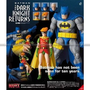 Mafex No139 Batman Blue Ver & Robin (The Dark Knight Returns)