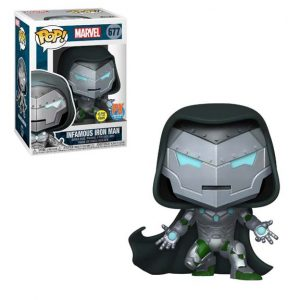 Marvel Infamous Iron Man Pop! Vinyl Figure GITD (#677) - PX Halloween 0ComicFest 2020 Exclusive