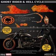 Mezco - Ghost Rider and Hell Cycle One 12 Collective Action Figure Set