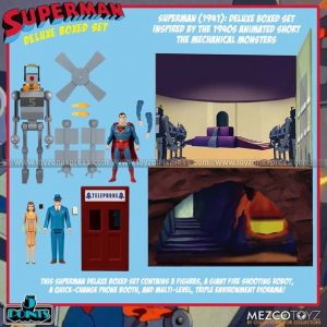 Mezco - Superman - The Mechanical Monsters (1941) Deluxe Boxed Set