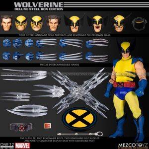 Mezco - X-Men Wolverine One 12 Collective Deluxe Steel Box Edition Action Figure