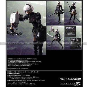 NieR Automata Play Arts Kai Action Figure - 2B (YoRHa No 2 Type B) Deluxe ver