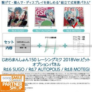 PLM - Dioramansion 150 Racing Miku Pit 2018 Optional Panel (Rd 8 Motegi)
