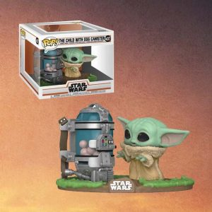 Star Wars The Mandalorian The Child with Egg Canister Deluxe Pop Vinyl Figure