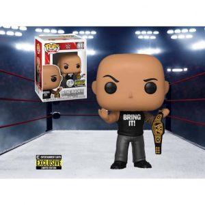 WWE The Rock with Championship Belt Pop! Vinyl Figure - EE Exclusive